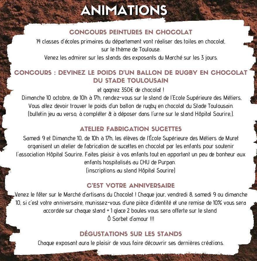 Flyer Marché du chocolat 2021 - animations